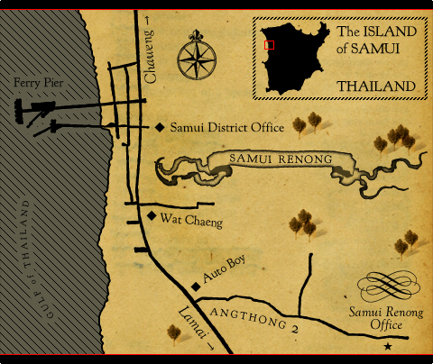 Samui Renong Map